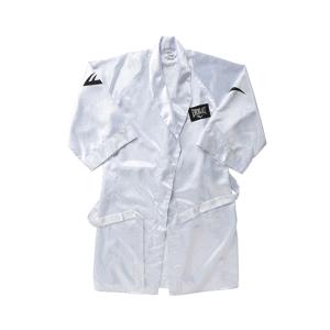 100% Poly Satin Full Length Boxing Robe (White)